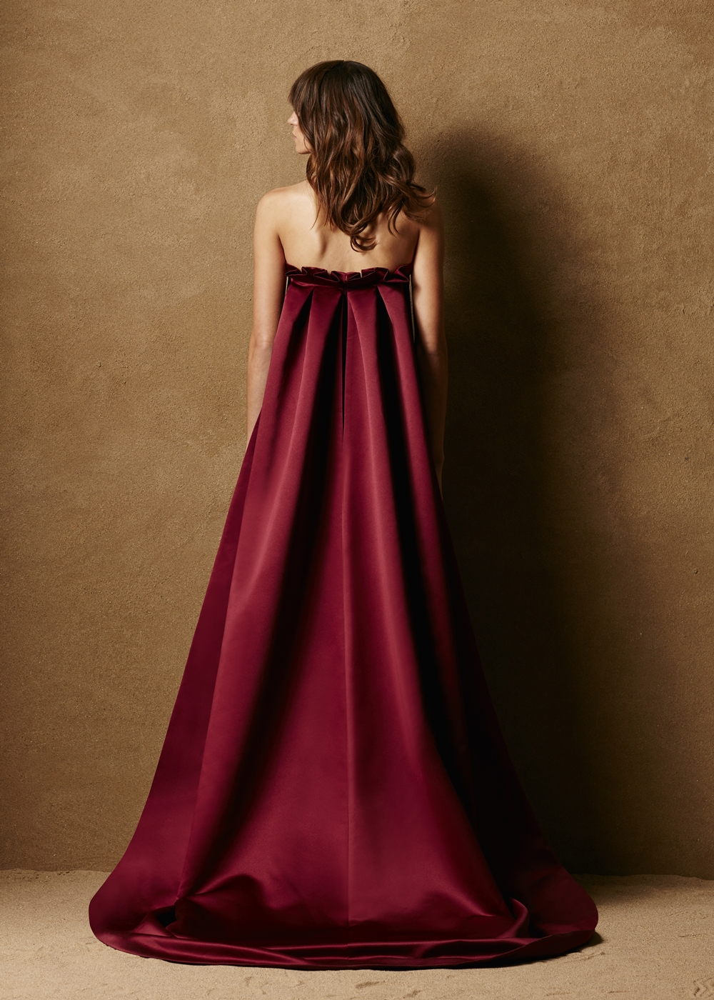 Strapless Duchess Satin Column Gown 2