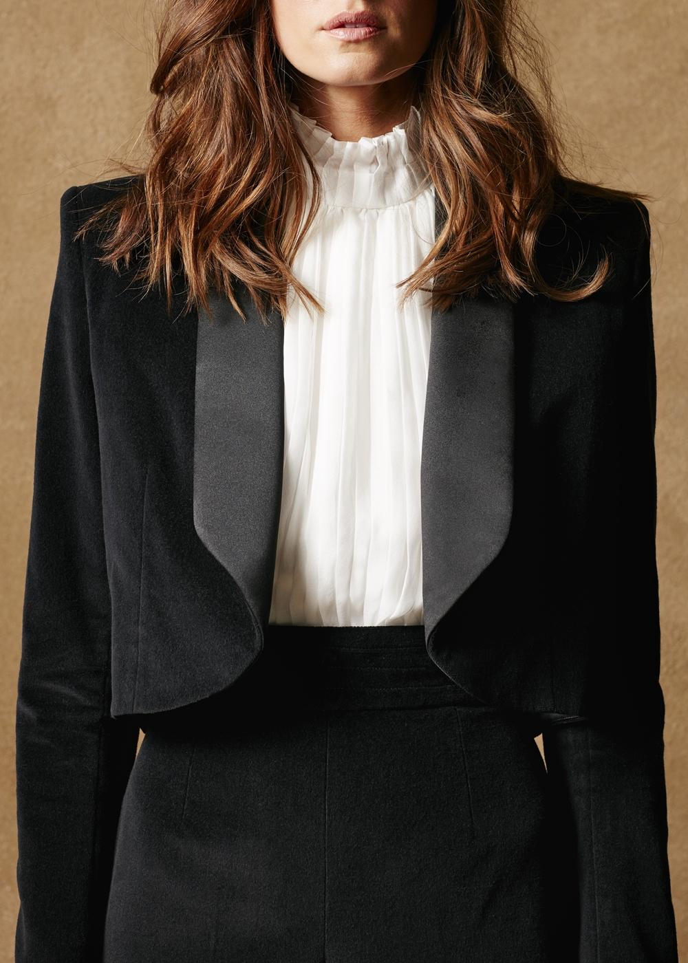 Cotton Velvet Tuxedo Jacket 3