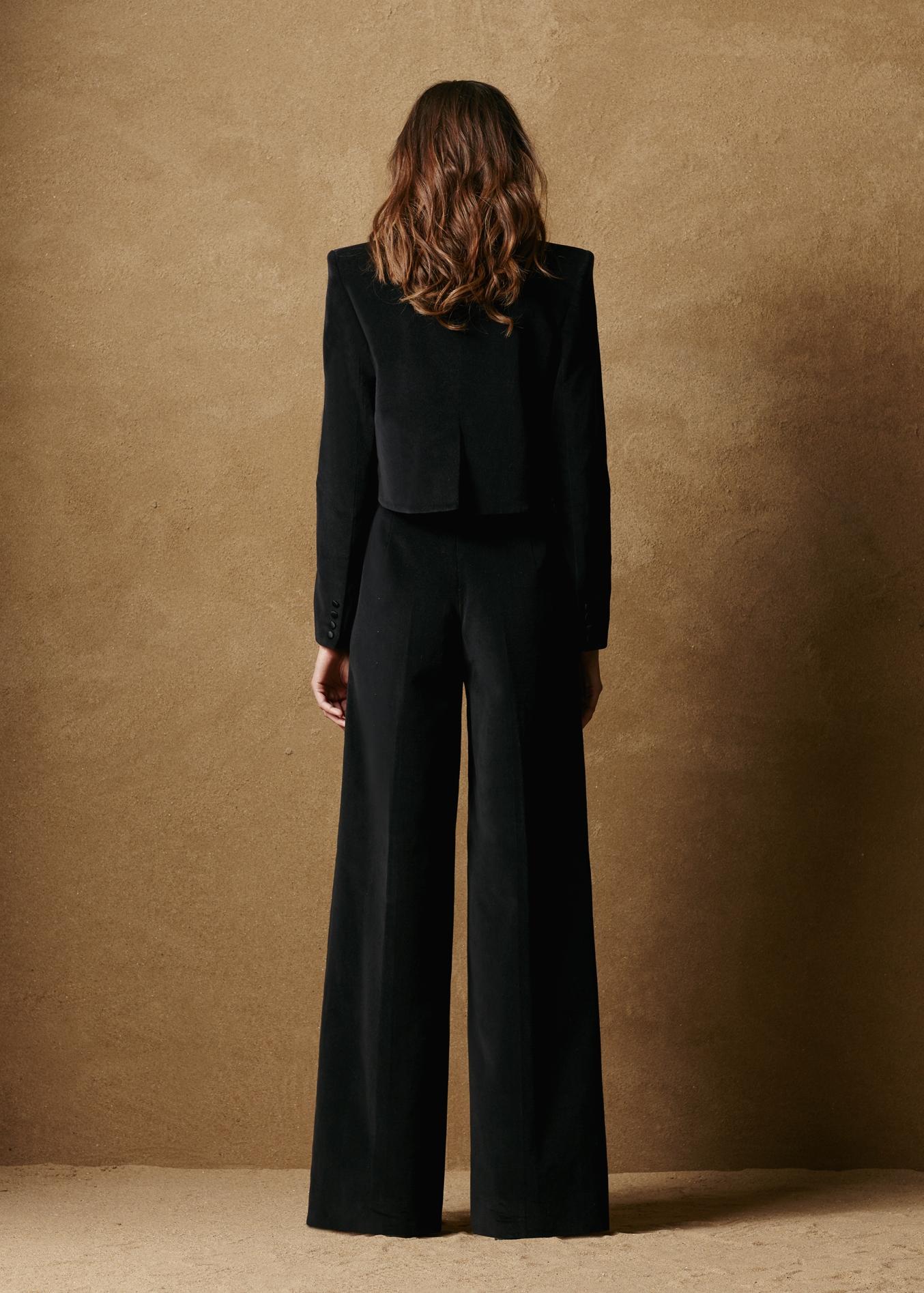 Cotton Velvet Tuxedo Jacket 2