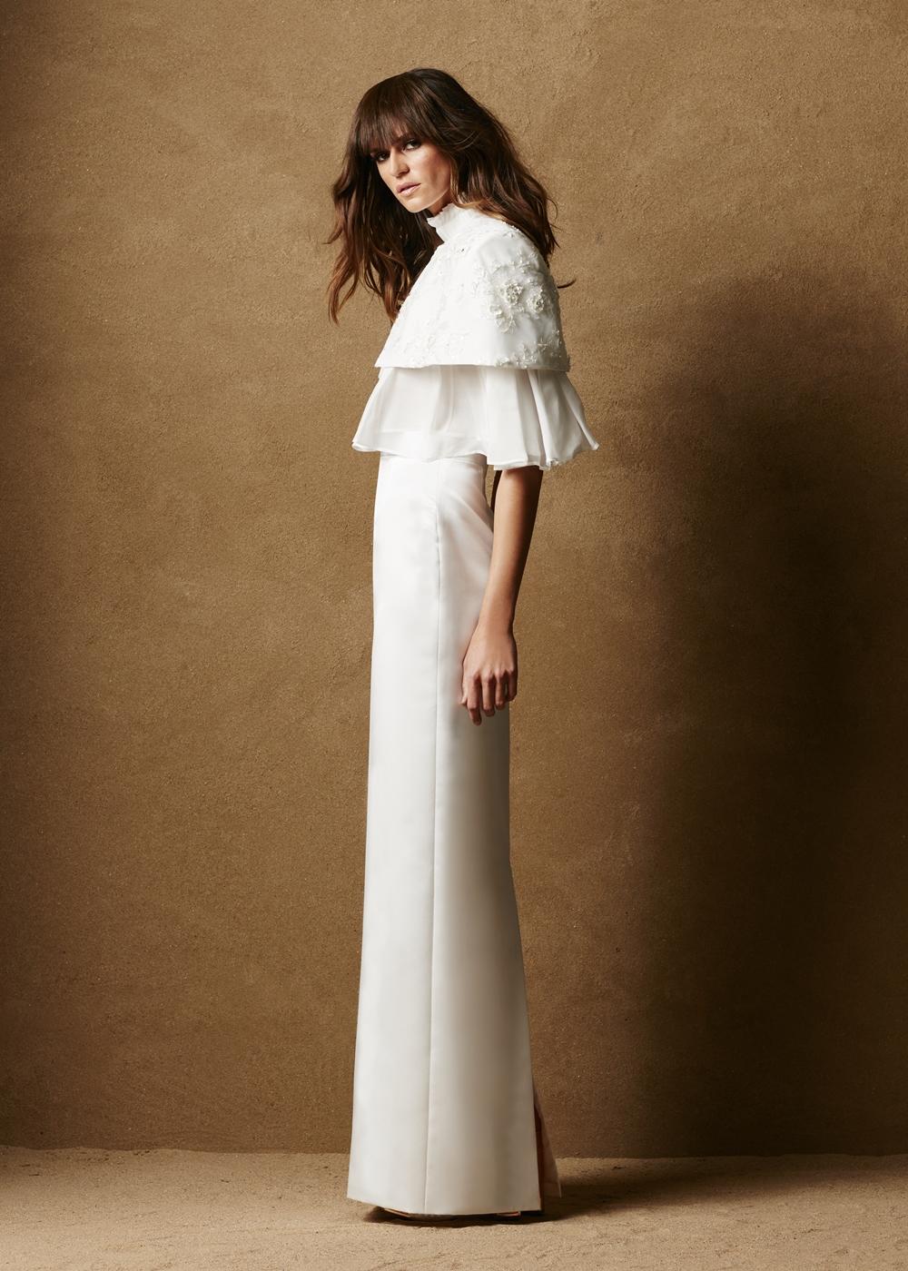 Duchess Satin Floor Length Skirt 1