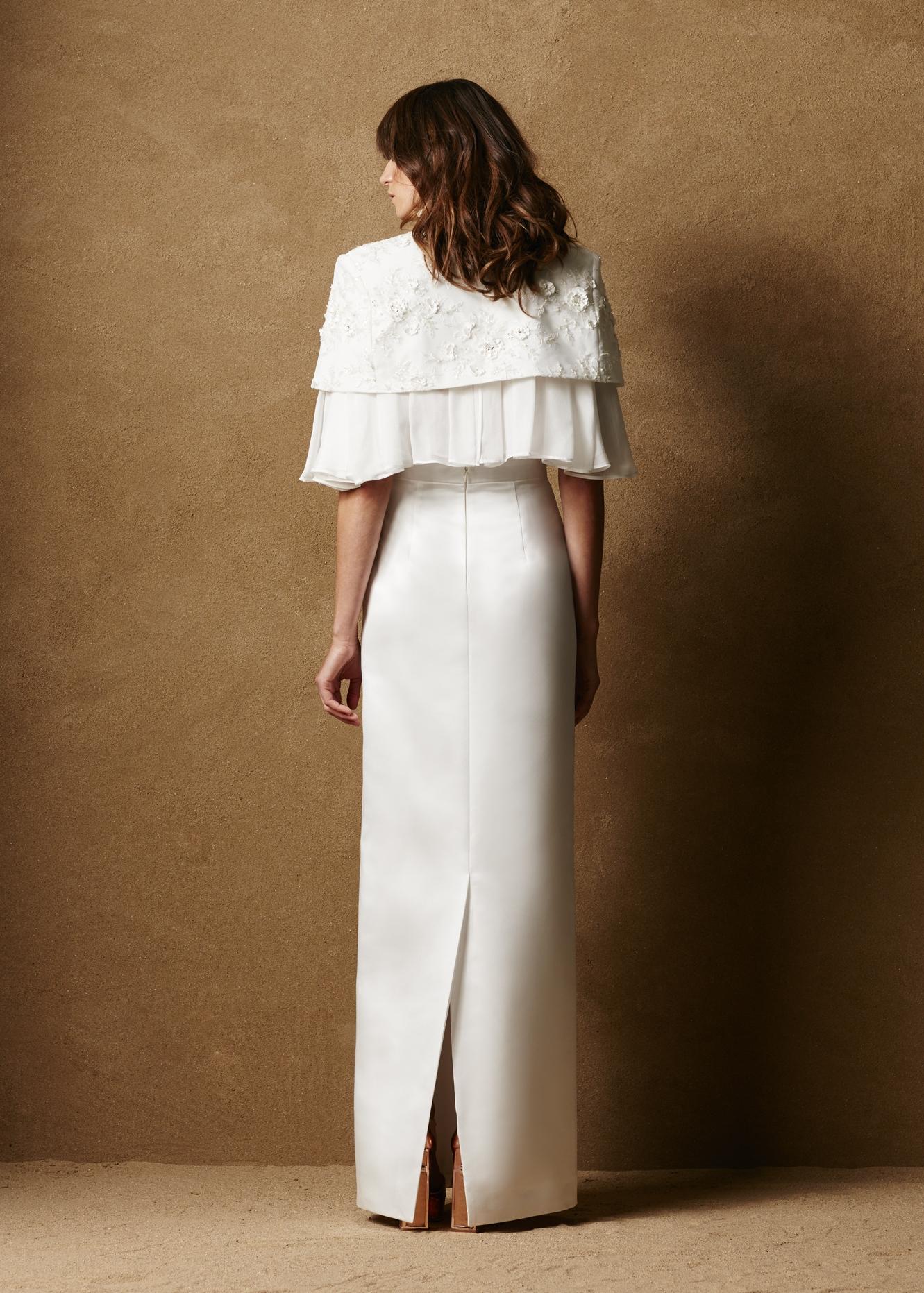 Duchess Satin Floor Length Skirt 3