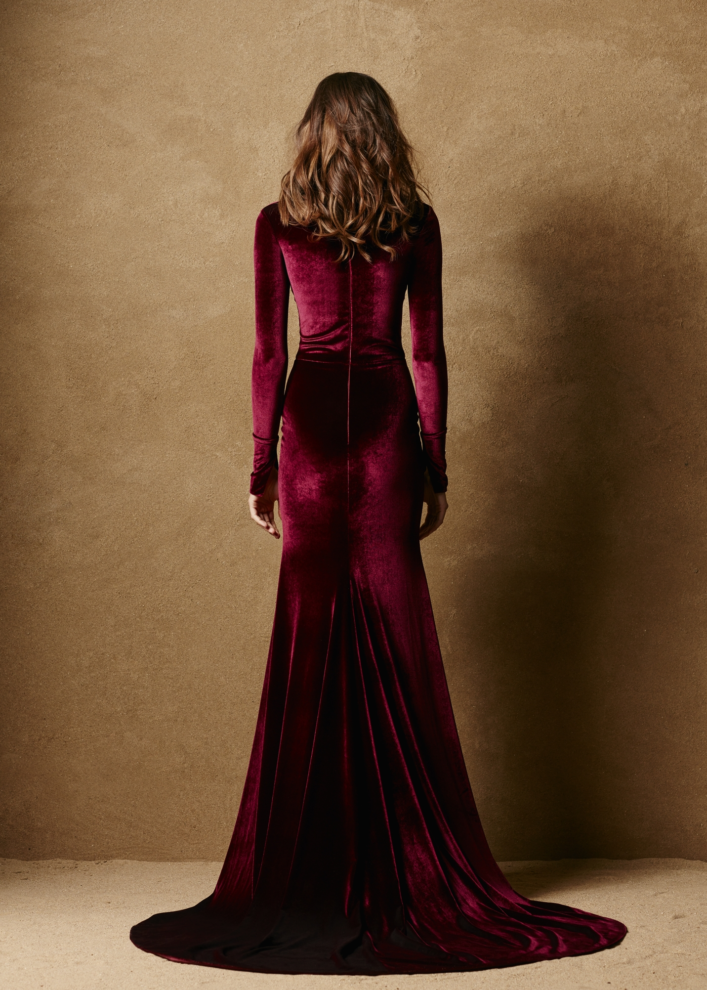 Stretch Velvet Fitted Gown 2