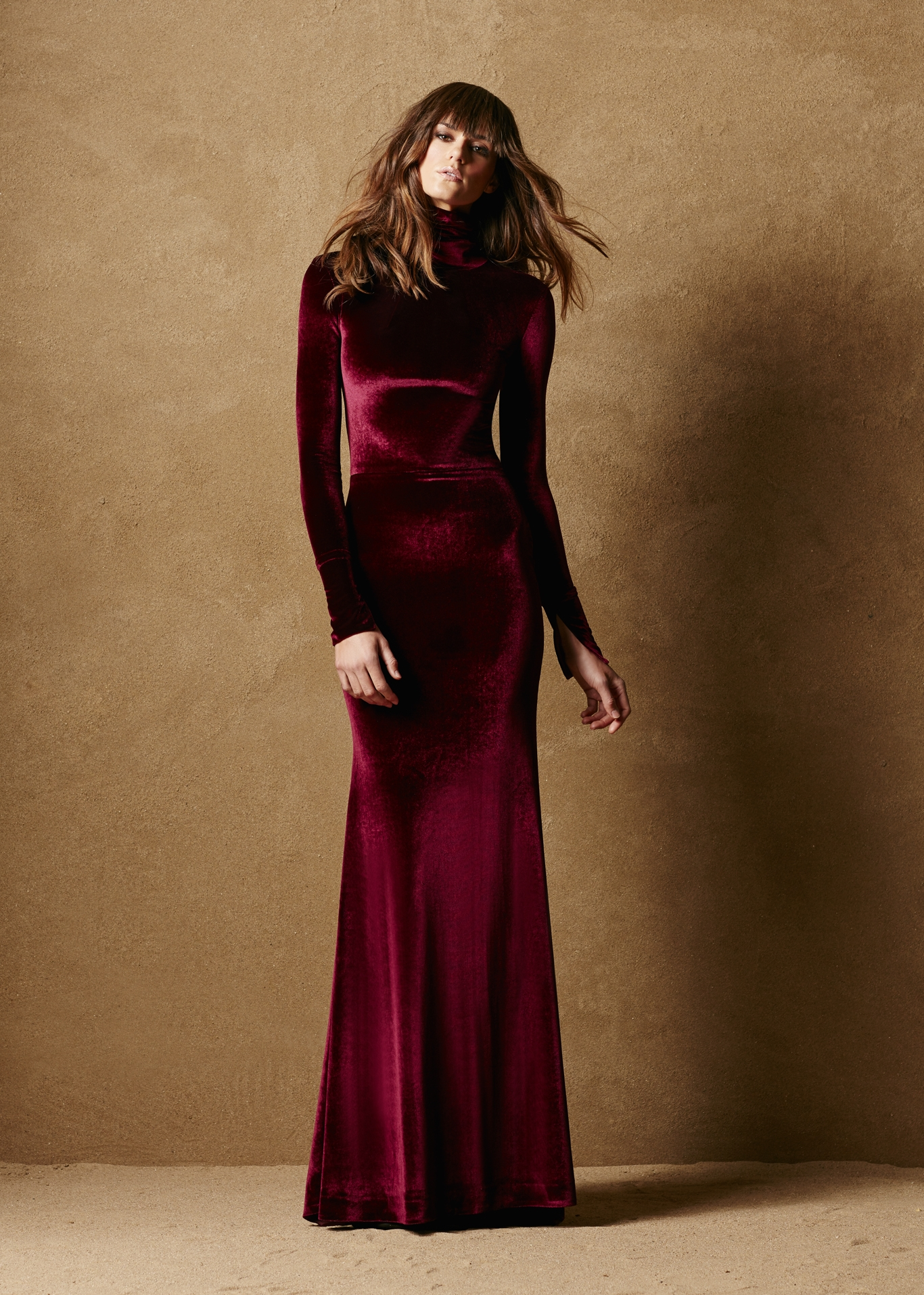 Stretch Velvet Fitted Gown 1